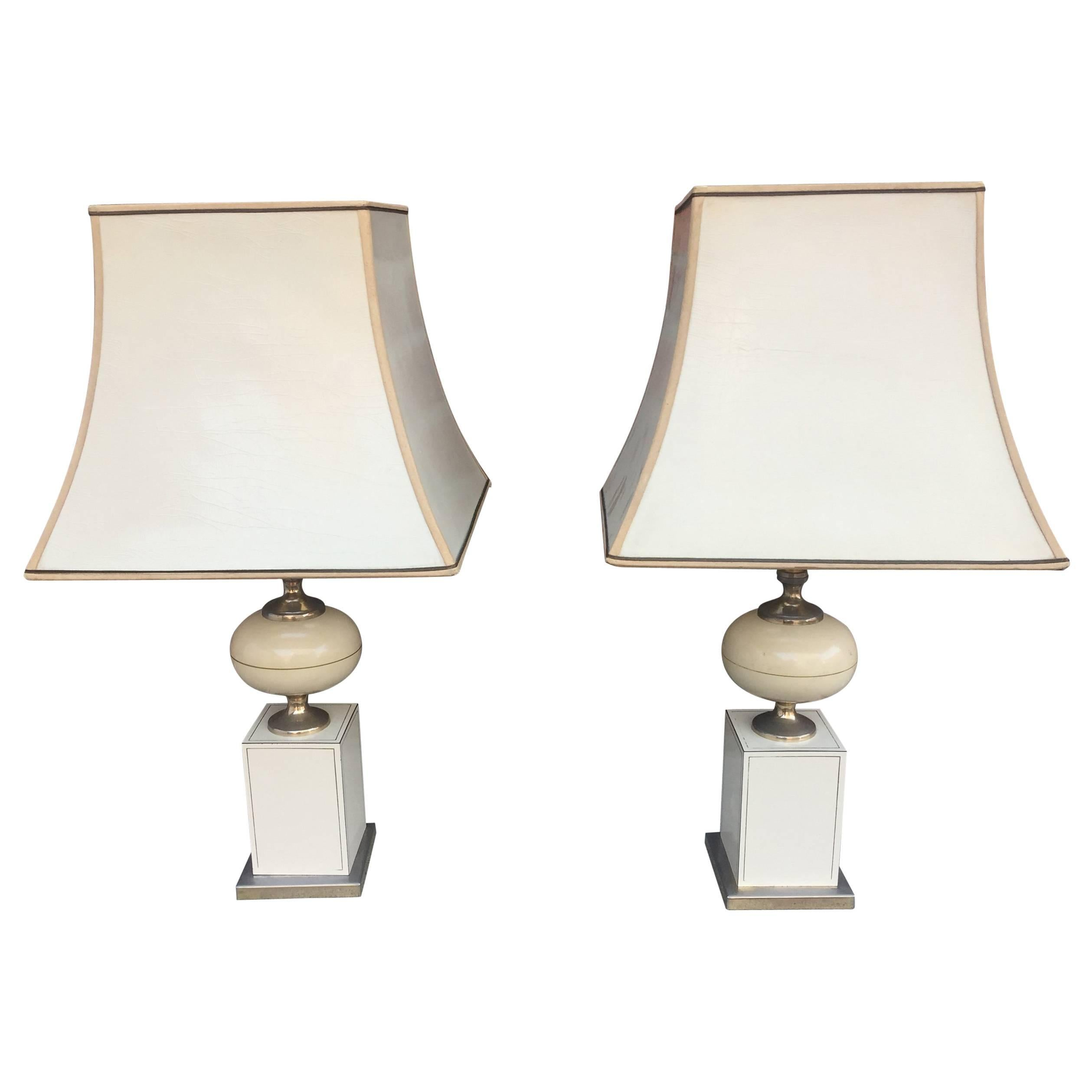 Pair of Table Lamps, circa 1970