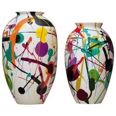 """""""Jackson & Janet"""" Terracotta Vases Designed by Miltos Manetas for Adele-C"""