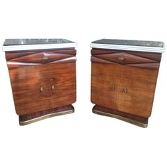 Dassi Rosewood Night Tables, Lissone, 1950s, Italy