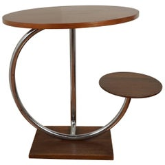 Art Deco Side Table with Seat