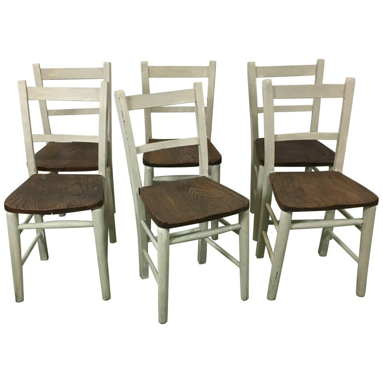 French Kitchen Chairs: 20th French Rustic Kitchen Chair In Elm At 1stdibs