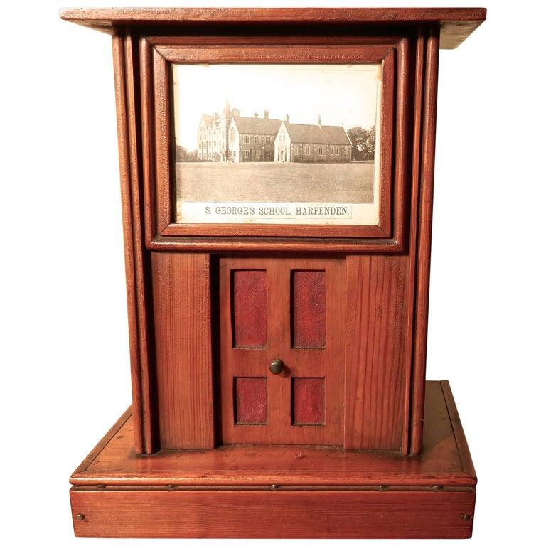 Victorian School House Letter Box, Post Box, 19th Century Post Box, Mail Box For Sale