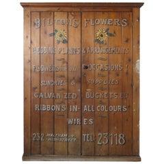 Victorian Painted Cupboard, Florist Flower Shop Supplies, Waltham London