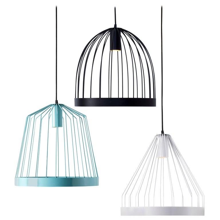 Florentine Painted Steel Concealed Led Pendant Lights