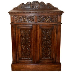 19th Century English Carved Cupboard