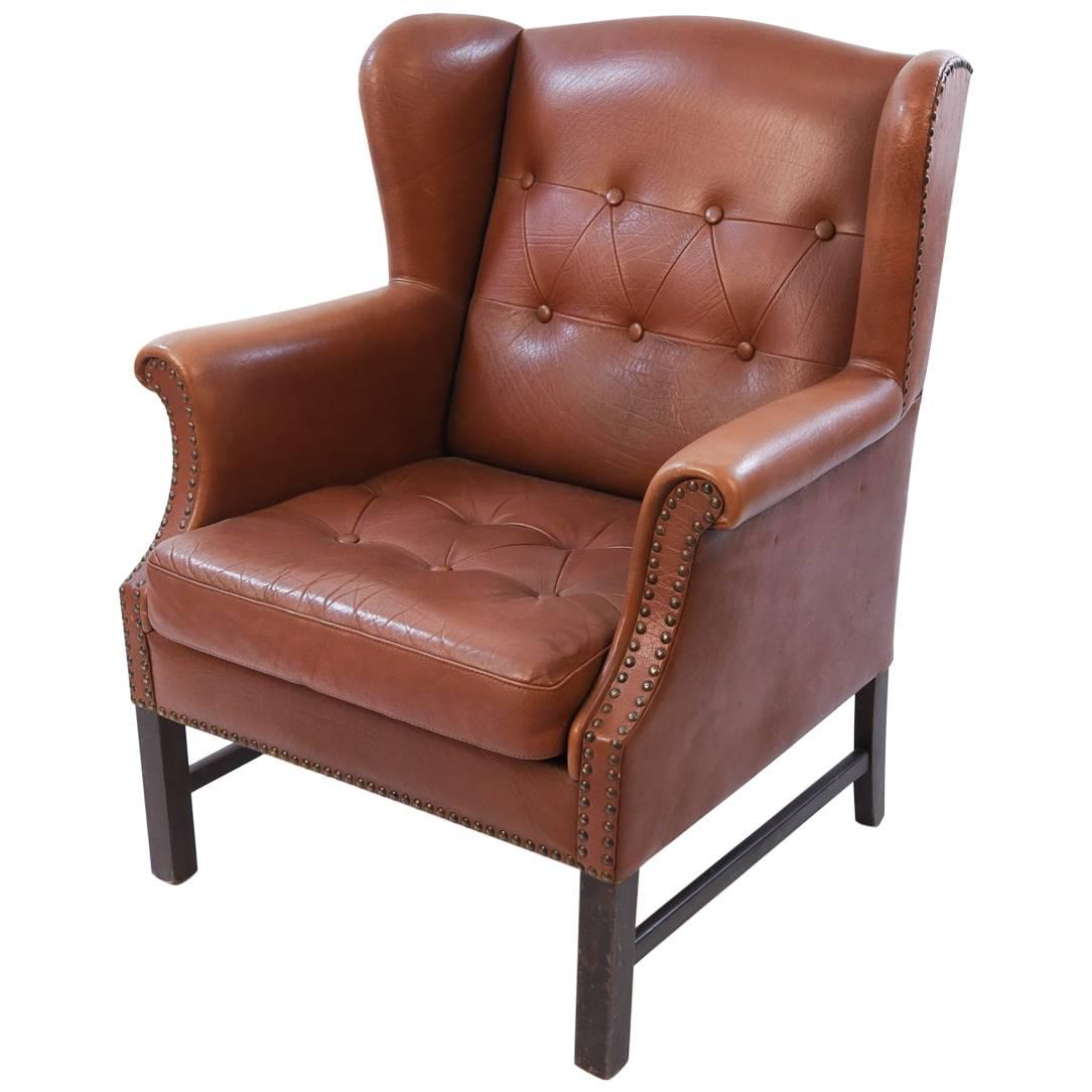 Leather Wingback Chairs 159 For Sale at 1stdibs