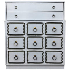 Dorothy Draper Espana Style Hollywood Regency Tall Chest of Drawers