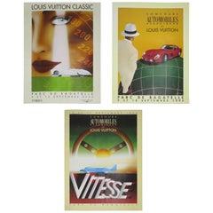 Set of Three Vintage Louis Vuitton Posters by Razzia