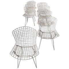 White Knoll Bertoia Chairs