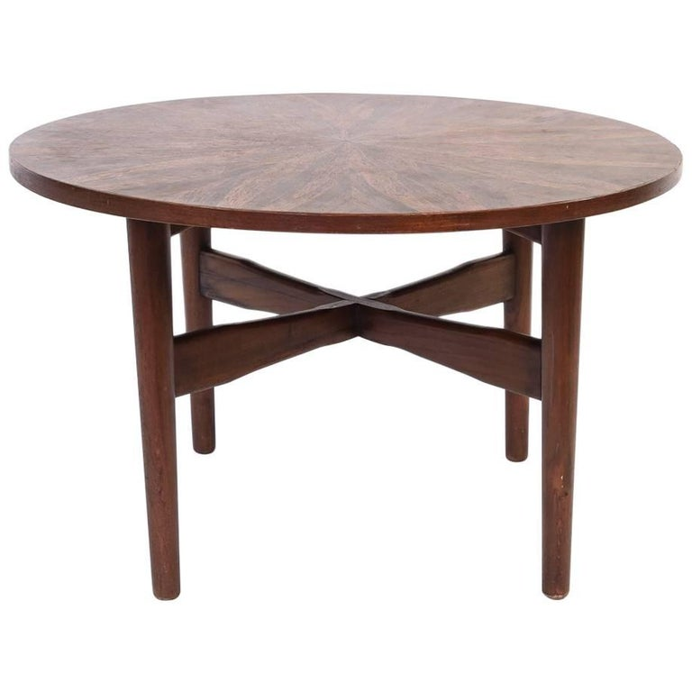 H.W. Klein for Bramin Danish Round Coffee Table in Rosewood