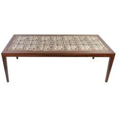Severin Hansen Jr. Rosewood Coffee Table with Royal Copenhagen Tiles