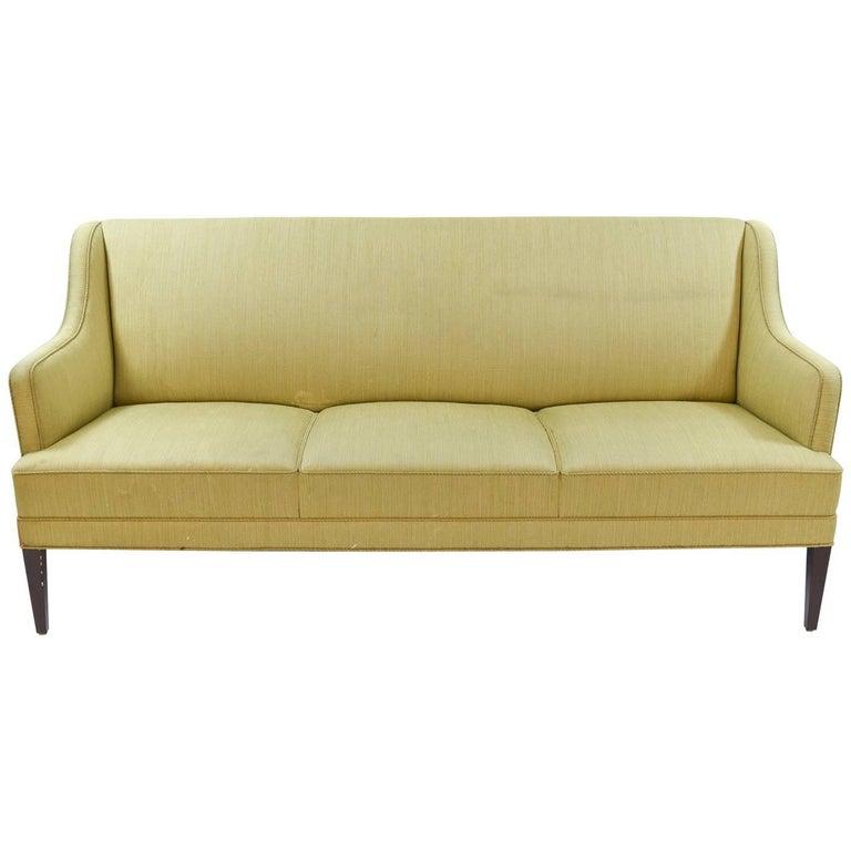 Frits Henningsen Three-Seat Sofa, Danish, Midcentury