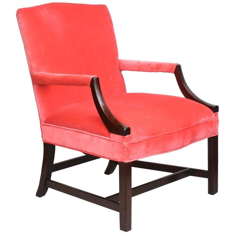Georgian Gainsborough Armchair For Sale