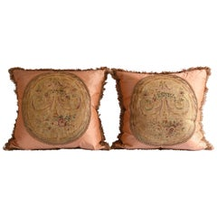 Pair of 19th Century, French Abusson Pillows