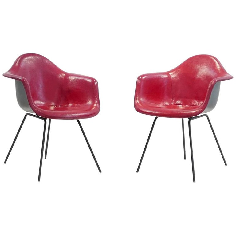 Charles and Ray Eames Pair of 'DAX' Chairs