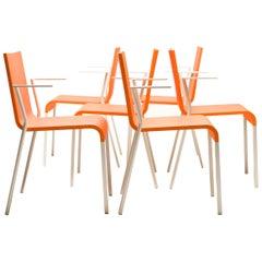 Maarten van Severen .03 Armchairs, Limited Edition in Bright Orange