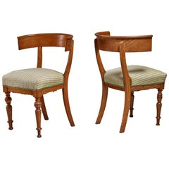 Pair of Oak Klismos Chairs, Sweden