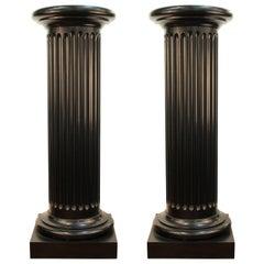 Fluted Columns in Ebonized Wood