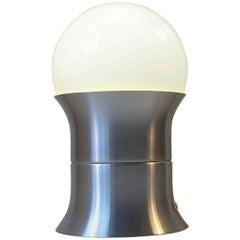 Danish Midcentury Table Lamp with Opaline Sphere by Sidse Werner, Fog & Mørup