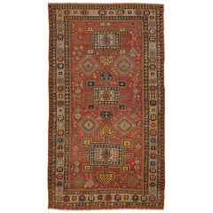 5.8 x 10 Ft Antique Caucasian Konaghend Soumak Rug