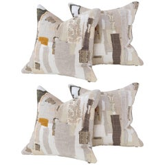 Harry Cushion in Grey with Gold