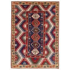 Remarkable Antique Caucasian Bordjalou Kazak Rug