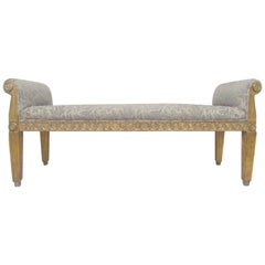 Neoclassical Style Bench Carved Giltwood Frame by Meyer Gunther Martini