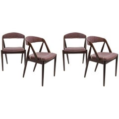 Set of Four Model 31 Chairs by Kai Kristiansen and Schou Andersen, 1960s