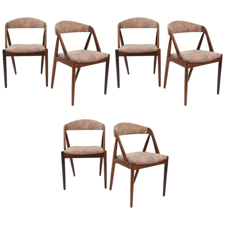 Set of Six Model 31 Chairs by Kai Kristiansen and Schou Andersen, 1960s