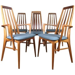 Niels Koefoed for Koefoed Hornslet Danish Modern Teak 'Eva' Dining Chairs, Six