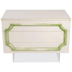 1970s Custom-Made Three-Drawer Chest on Lucite Base