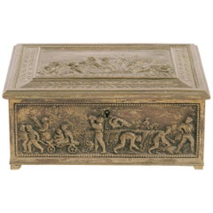 1880s English Brass Box