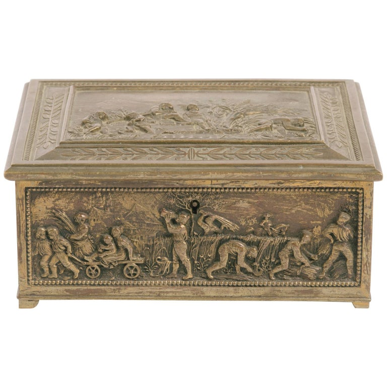 1880s English Brass Box