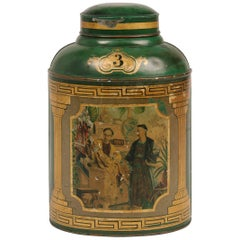 1870s English Tole Tea Canister