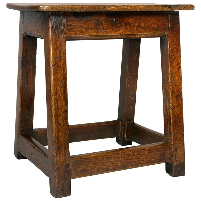 George II Oak Stool/Table