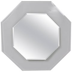 1970s Octagonal Beveled Glass Mirror