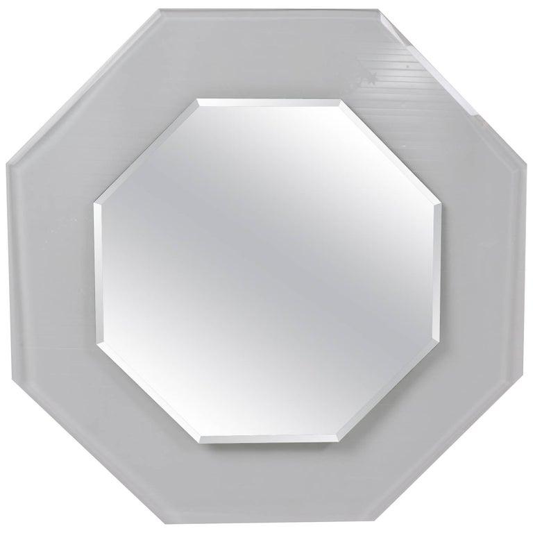 1970s Octagonal Beveled Glass Mirror