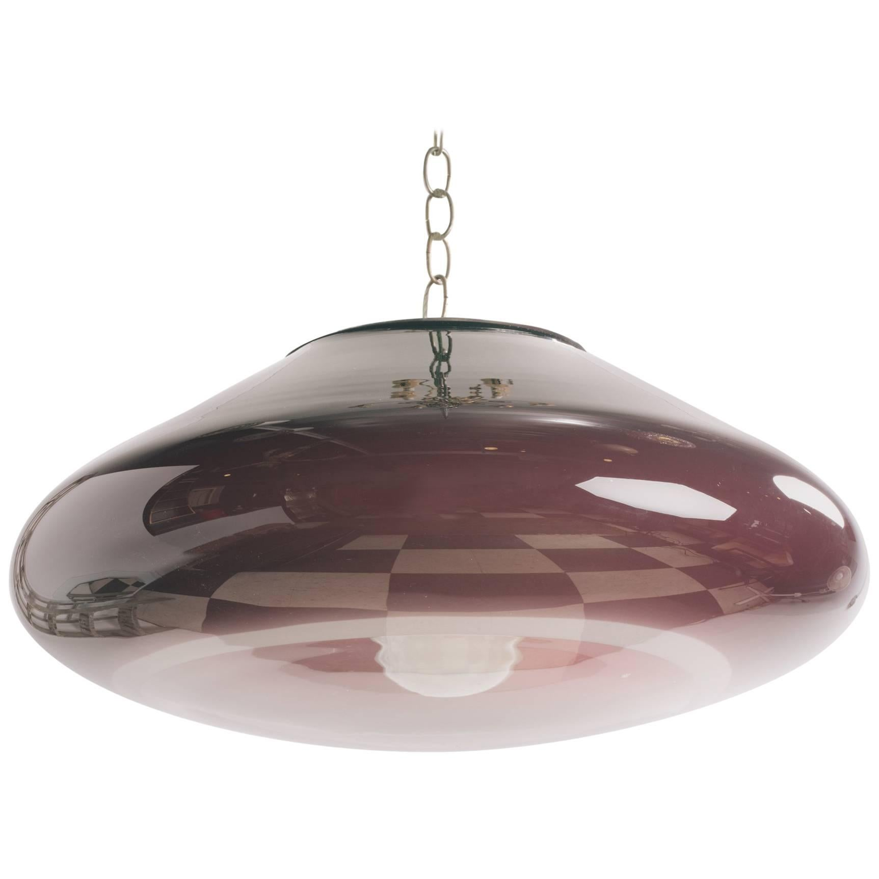 1980s Italian Purple Glass Chandelier