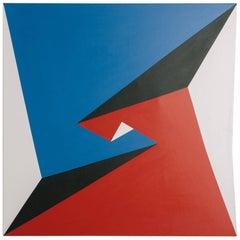 1970s Large Geometric Painting