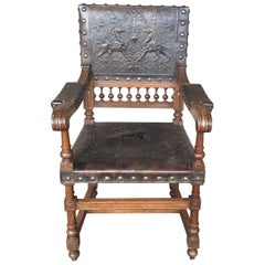 Turn of the Century Tooled Leather Armchair
