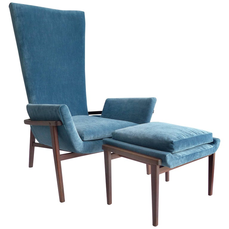 1950s Lounge Chair and Ottoman by Karpen of California