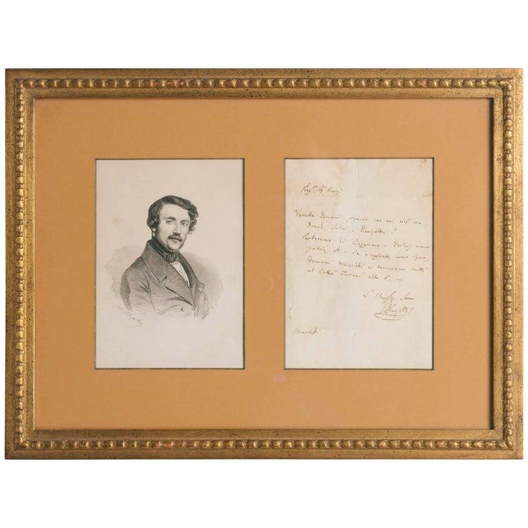 Gaetano Donizetti Autographed Letter