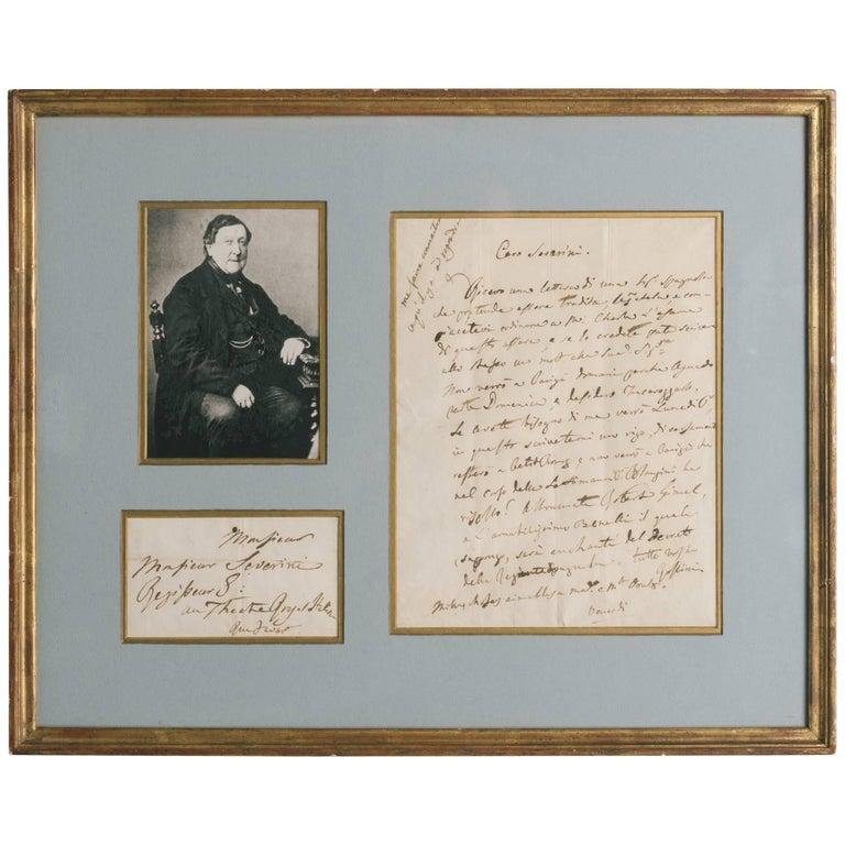 Rossini Signed Letter For Sale