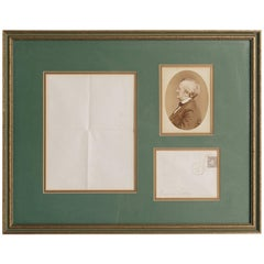 Richard Wagner Autographed Letter and Envelope