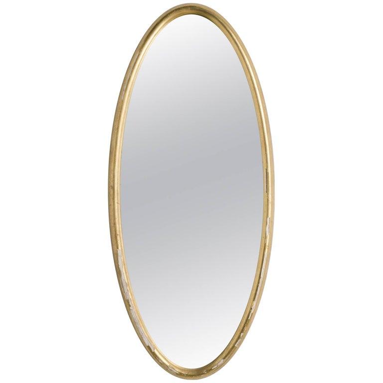 Oval Gilt Deep Framed Italian Mirror