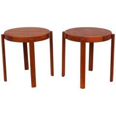 1960s Danish Teak Side Tables