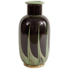 Large Herman A. Kähler Art Deco Vase or Lamp Base, 1930s