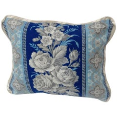 Custom Cotton and Linen French 19th Century Fabric Pillow