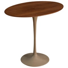 Classic Eero Saarinen Tulip Side Table with Walnut Top