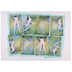 Carolee Schneemann Kinetic Feminist Artwork, Original 1979, Aqua, Violet 56/250